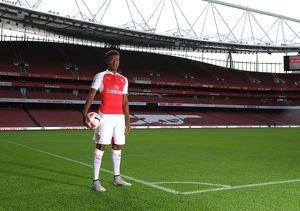 Alex Iwobi (Arsenal). Arsenal 1st Team Photcall and Training Session. Emirates Stadium