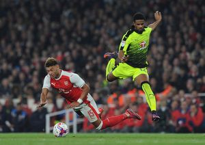 season 2016 17/arsenal v reading efl cup 2016 17/alex oxlade chamberlain arsenal garath mccleary reading