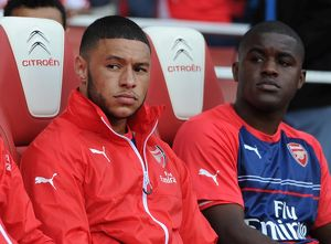 season 2014 15/arsenal v crystal palace 2014 15/alex oxlade chamberlain joel campbell arsenal