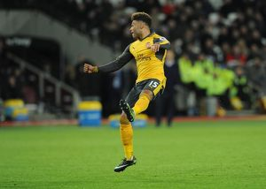 season 2016 17/west ham united v arsenal 2016 17/alex oxlade chamberlain scores arsenals 4th goal