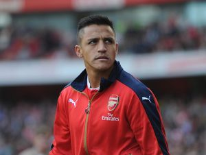 season 2015 16/arsenal v manchester united 2015 16/alexis sanchez arsenal arsenal 30 manchester united