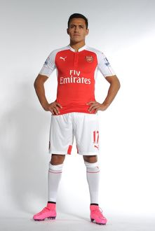 team/arsenal 1st team photocall 2015 16/alexis sanchez arsenal arsenal training ground
