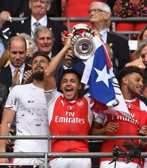 season 2016 17/arsenal v chelsea fa cup final 2017/alexis sanchez arsenal lifts fa cup