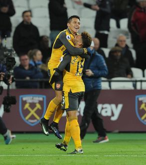 season 2016 17/west ham united v arsenal 2016 17/alexis sanchez celebrates scoring 3rd goal
