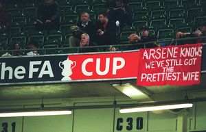 Arsenal banner. Arsneal 1:0 Southampton. The F