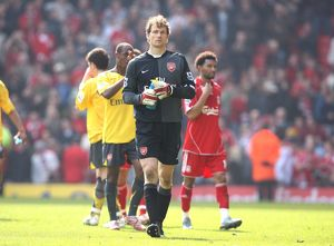 arsenal captain jens lehmann after the match