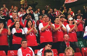 Arsenal fans. Arsenal 1:0 Southampton. The F