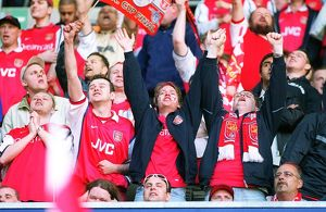 Arsenal fans. Arsenal 2:0 Chelsea. The AXA F