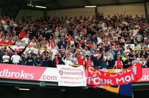Arsenal Fans celebrate winning the League. Tottenham Hotsour v Arsenal