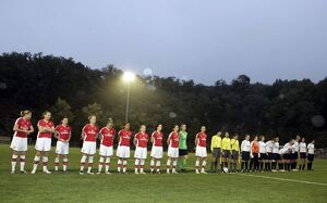 arsenal women/arsenal ladies v fc zurich frauen 2008 9/arsenal ladies line match