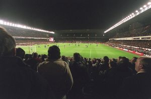 Arsenal Stadium during the match, photographed from the South Stand