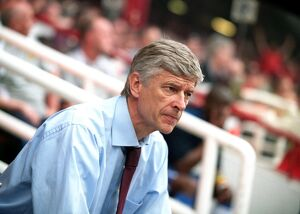 Arsene Wenger the Arsenal Manager. Arsenal 4:2 Wigan Athletic