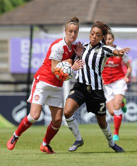 arsenal women/arsenal ladies v notts county wsl 10th july 2016/casey stoney arsenal ladies jess clarke notts