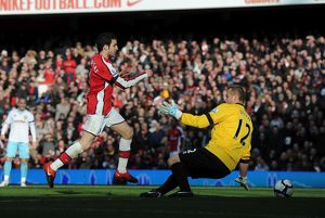 previous season matches/matches 2009 10 arsenal v burnley 2009 10/cesc fabregas shoots past burnley goalkeeper score
