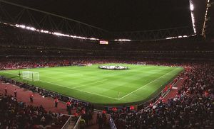 previous season matches/matches 2006 07 arsenal v fc porto/champions league banner held match