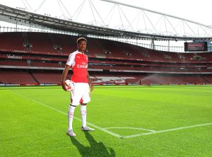 Chuba Akpom (Arsenal). Arsenal 1st Team Photcall and Training Session. Emirates Stadium