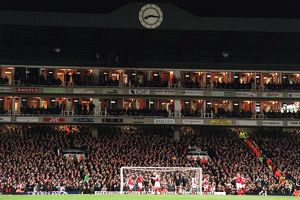 The Clock End. Arsenal 2:4 Manchester United. FA Barclays Premiership