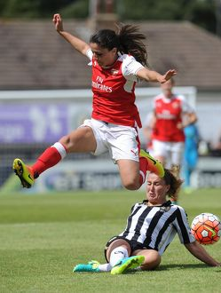 arsenal women/arsenal ladies v notts county wsl 10th july 2016/danielle van donk arsenal ladies amy turner