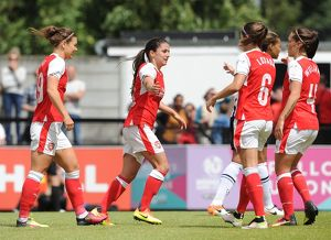 arsenal women/arsenal ladies v notts county wsl 10th july 2016/danielle van donk celebrates scoring arsenals