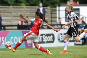 arsenal women/arsenal ladies v notts county wsl 10th july 2016/danielle van donk scores arsenals 1st goal