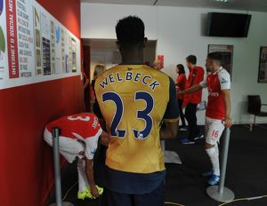 Danny Welbeck (Arsenal). Arsenal 1st Team Photcall and Training Session. Emirates Stadium