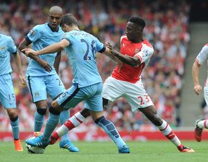 season 2014 15/arsenal v manchester city 2014 15/danny welbeck arsenal martin demichelis man city