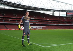 David Ospina (Arsenal). Arsenal 1st Team Photcall and Training Session. Emirates Stadium