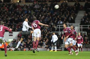 previous season matches/matches 2009 10 west ham united v arsenal fa cup 2009 10/eduardo heads past matthew upson goalkeeper