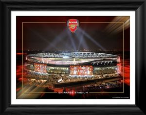 emirates at night framed photographic print