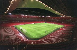 Emirates Stadium is prepared before the match