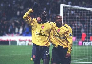 legends/ex players adebayor emmanuel/emmanuel adebayor celebrates scoring 3rd goal