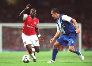 previous season matches/matches 2006 07 arsenal v fc porto/emmanuel eboue arsenal ricardo costa porto
