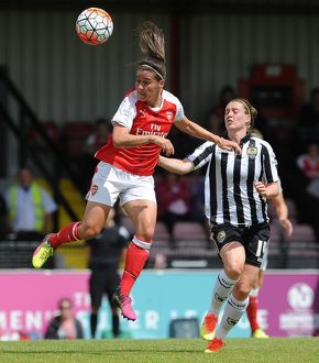 arsenal women/arsenal ladies v notts county wsl 10th july 2016/fara williams arsenal jade moore notts county