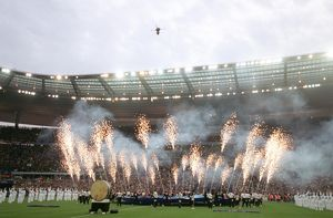 classic matches/barcelona v arsenal 2005 06/fireworks opening ceremony