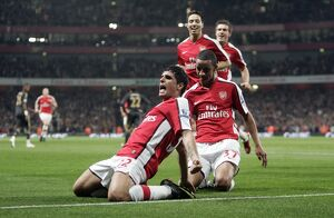 previous season matches/matches 2009 10 arsenal v liverpool carling cup 2009 10/fran merida celebrates scoring arsenals 1st goal