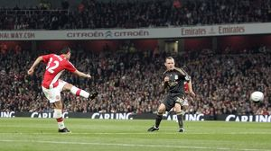previous season matches/matches 2009 10 arsenal v liverpool carling cup 2009 10/fran merida scores arsenals 1st goal jay