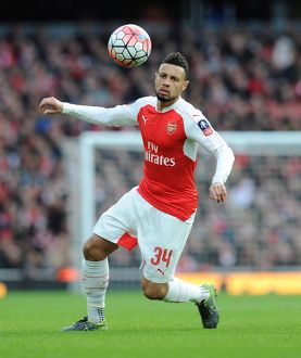 season 2015 16/arsenal v burnley fa cup 4th rd 2016/francis coquelin arsenal arsenal 21 burnley