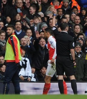 francis coquelin arsenal is shown the red card