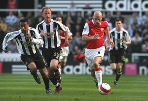 Freddie Ljungberg (Arsenal) Noberto Solano and Nicky Butt (Newcastle United)