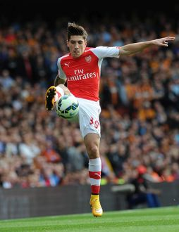 season 2014 15/arsenal v hull city 2014 15/hector bellerin arsenal arsenal 22 hull city