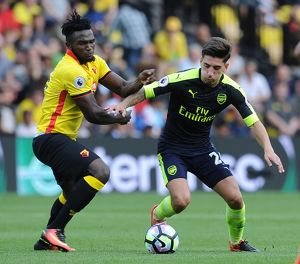 season 2016 17/watford v arsenal 2016 17/hector bellerin arsenal isaac success watford