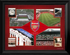special editions/highbury montage framed photographic print