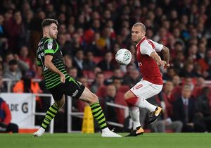 season 2017 18/arsenal v doncaster rovers carabao cup 2017 18/jack wilshere arsenal ben whiteman doncaster