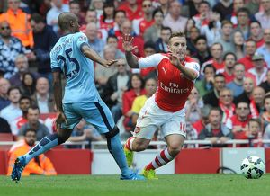 season 2014 15/arsenal v manchester city 2014 15/jack wilshere arsenal fernadinho man city