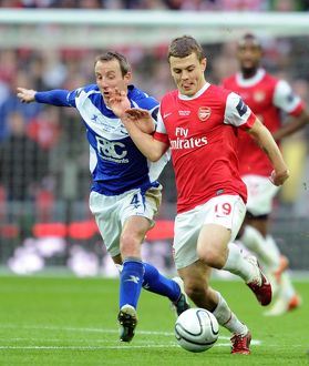 previous season matches/matches 2010 11 arsenal v birmingham city carlin cup final/jack wilshere arsenal lee bowyer birmingham