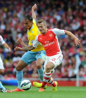 season 2014 15/arsenal v crystal palace 2014 15/jack wilshere arsenal maroaune chamakh palace