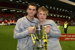 previous season matches/matches 2008 09 liverpool v arsenal 2008 9 youth cup/james shea charlie mann arsenal youth cup trophy
