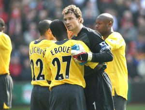 jens lehmann and emmanuel eboue arsenal