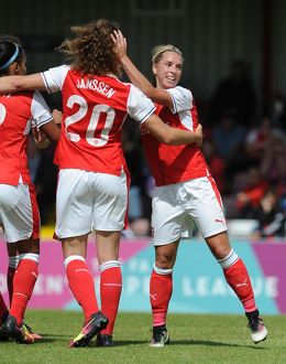 arsenal women/arsenal ladies v notts county wsl 10th july 2016/jordan nobbs celebrates scoring arsenals 2nd