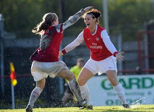 arsenal women/arsenal ladies v rayo vallecano 2010 11/julie fleeting celebrates scoring arsenals 2nd